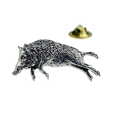 Pewter Lapel Pin Badge XTSPBA68 Wild Boar 3