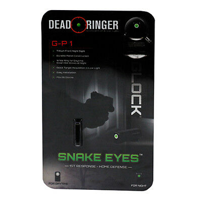 New Dead Ringer Snake Eyes Pistol Sight GP 1 Tritium Green Front Sight DR4552