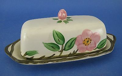Franciscan Desert Rose Quarter Pound Covered Butter Dish Flowers Vine England