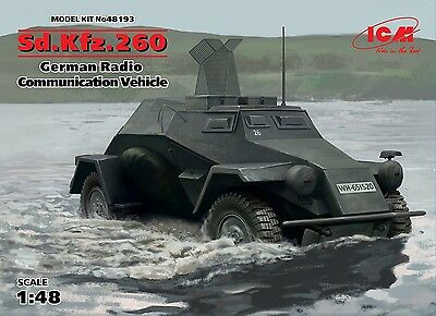 ICM 48193 WWII German Radio Communication Vehicle Sd.Kfz.260 in 1:48