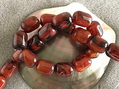 """Natural Large Organic Carnelian 14 x 18 mm Oblong Beads, 16"""" Temporary Strand"""