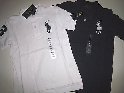 Nwt Polo Ralph Lauren Big Pony Cotton Polo Shirt Boy Size 4 5 6 7, Clearance !!