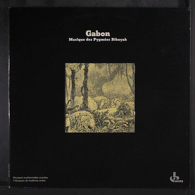 VARIOUS: Gabon; Musique Des Pygmees Bibayak LP (France, 2 small cover creases,