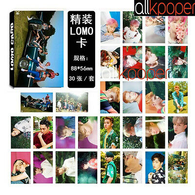 30 Pcs KPOP EXO Lomo Card MONSTA X MAMAMOO SNSD Picture BLACKPINK Poster Card