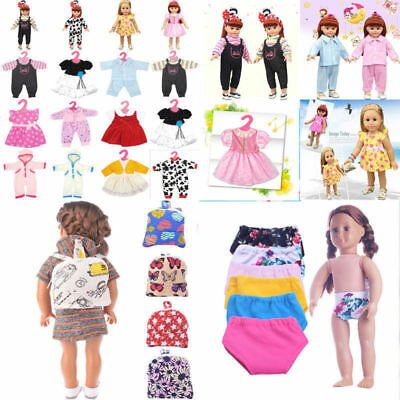 Fashion 18inch Cute Baby Girl Children Clothes Dress Skirt Pajamas Doll Gift Hot