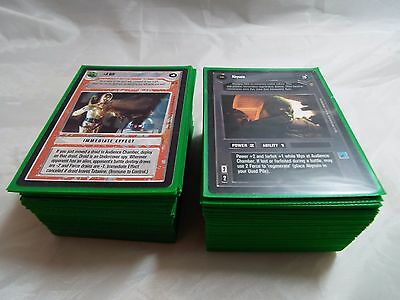 Star Wars Ccg Jabba's Palace Black Border, Complete Master Set Of 180 Cards