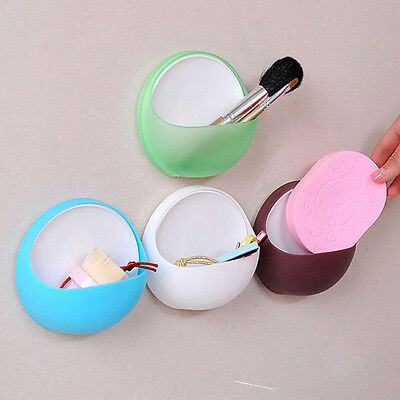 For Bathroom Shower Useful Plastic Suction Cup Soap Toothbrush Box Dish Holder