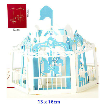 Carousel 3D Pop Up Greeting Cards Carousel Lover Happy Birthday Anniversary