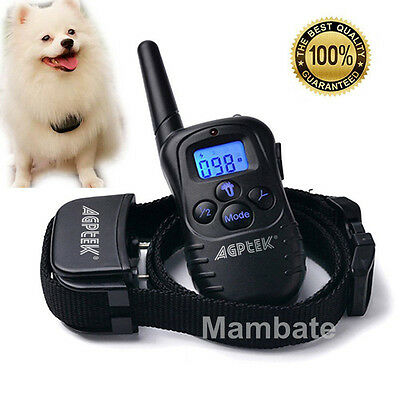 300 Yard Waterproof Rechargeable Vibra Electric Remote Dog Training Shock Collar