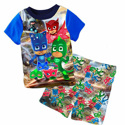 BNWT-Boys PJ Masks Catboy, Owlette and Gekko Summer Pyjamas Sleepwear .