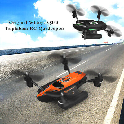 WLtoys Q353 Aeroamphibious Air Land Sea Mode 3 in 1 Headless  RC Drone Quadcopte