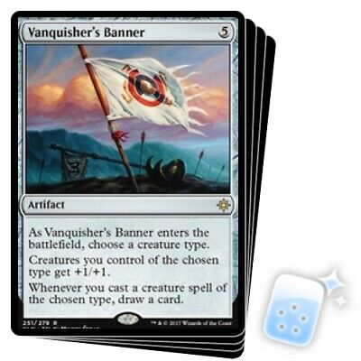 VANQUISHER'S BANNER X4 Ixalan XLN Magic MTG MINT CARD