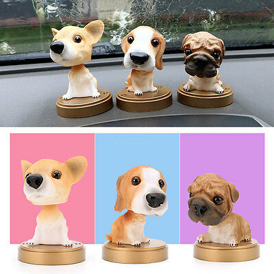 Funny Cute Bobble Head Dog Ornament Shaking Head Puppy Cars Decoration 1PC