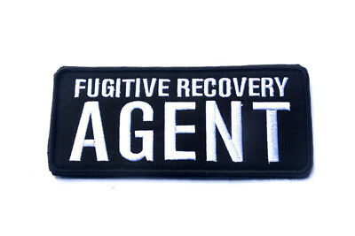 Fugitive Recovery Agent 3D Army Tactical Morale Badge Embroidered Hook Patch /02