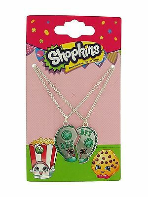 Licensed Limited Edition Chelsea Charm Shopkins Best Friends BFF Necklace x 2