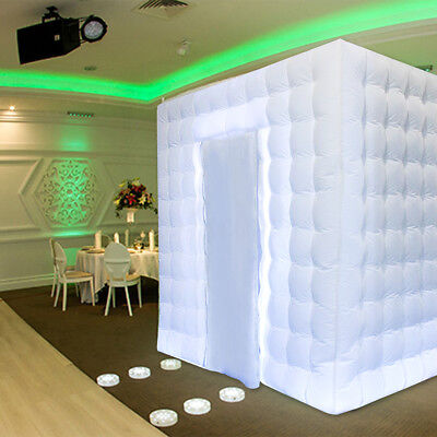 2.5m Inflatable Professional LED Color Bulb Photo Booth Tent For Wedding Party