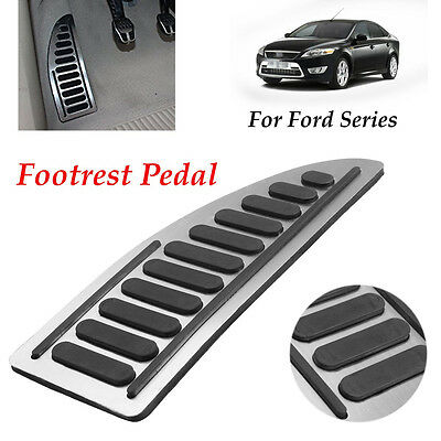 No Drill Anti-slip Footrest Aluminum Pad Pedal Cover Adhesive For Ford Series