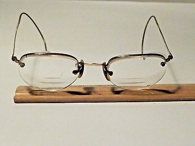 Antique 12K Gold Filled Wire B&l Rim Eyeglasses With Tri Focal Lenses Very Nice