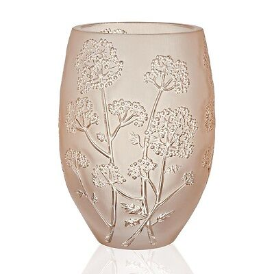 Lalique Ombelles Vase Gold Luster, Medium Brand New In Box #10550700 Save$ F/sh