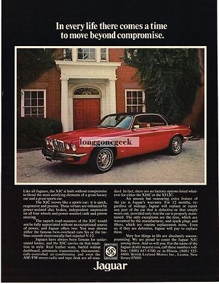 1976 Jaguar XJC Red 2-door Coupe Vtg Print Ad