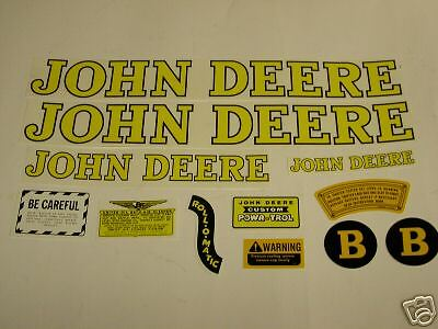 John Deere Model B Styled Tractor Decal Set - NEW FREE SHIPPING