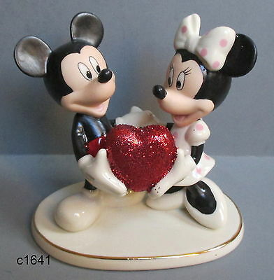 Lenox Disney - Sweethearts Forever Mickey Minnie Mouse Figurine - New In Box