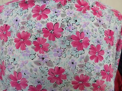 2yd  print fabric good weight 2 way spandex lycra MADE IN THE USA J4256