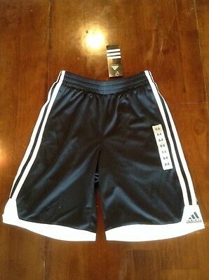Adidas Athletic Performance Shorts Boy's Size 8 Small Black White New with Tags