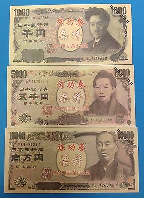 China Training Money Japan 500,1000,10000 Yen 3 PCS, FREE SHIP