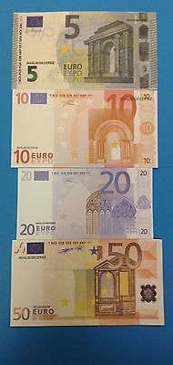 China Training Money Euros 5,10,20,50,100,200,500 7 PCS, FREE SHIP