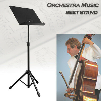 "39.5""-62.5"" Orchestra Adjustable Folding Sheet Music Stand Heavy Duty Metal"
