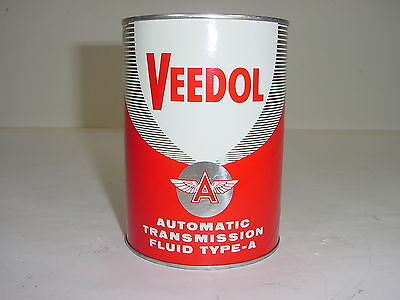 Vintage NOS Veedol Flying A Tidewater Oil Automatic Transmission Fluid Can 1 Qt