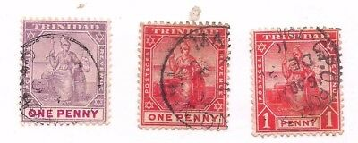 3 TRINIDAD stamps.