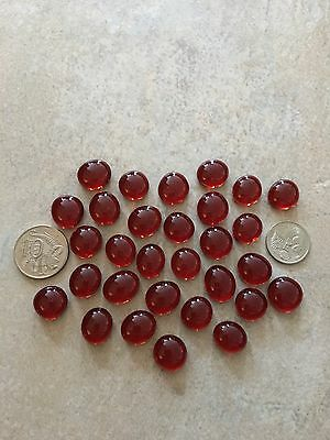 30 Small Red nuggets/Gems,Mosaic,Arts&Crafts,wishing stones