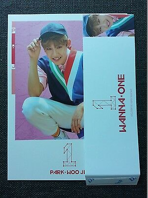 WANNA ONE PARK WOO JIN Pink Ver Official Sleeve + Cover Card 1st Album TO BE ONE