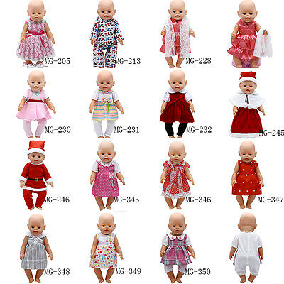 1set Doll Clothes Wearfor 43cm Baby Born zapf (only sell clothes )