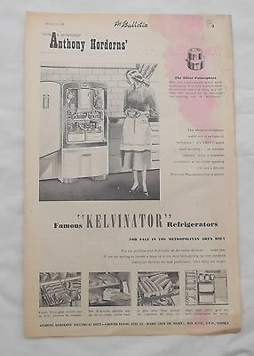 Kelvinator Refrigerator Full Page Advertisement from a 1950 Newspaper Fridge