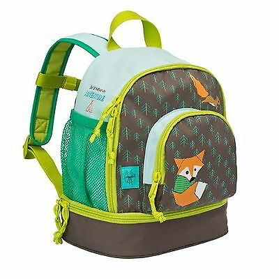 Lässig 4Kids Mini Backpack Little Tree Fox Kinderrucksack Rucksack Blau Grün Neu