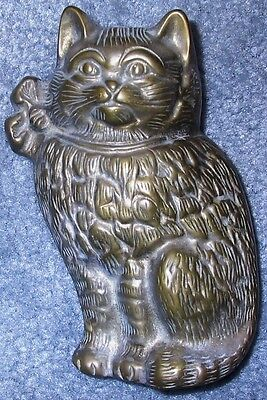 Antique Brass cat door knocker