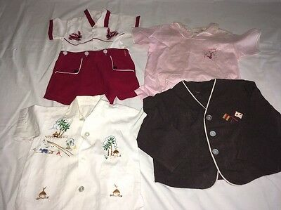 CUTE Vintage Lot 40s 50s Baby Toddler Boys Clothing  Rompers Onesy Jacket Shirt