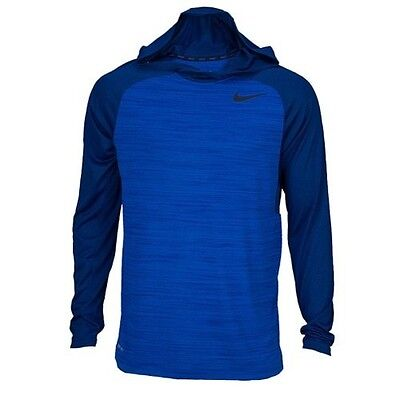 Brand NEW - Nike Mens Dri-Fit Touch Long Sleeve Hoodie Shirt SIZE XL - Blue