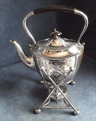 SUPERB Large ~ SILVER Plated ~ Spirit KETTLE on Stand ~ c1890 by Joseph Rodgers