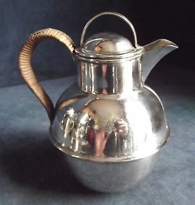 GOOD ~ SILVER Plated ~ Family CRESTED ~ 1 Pint GUERNSEY Jug ~ c1925