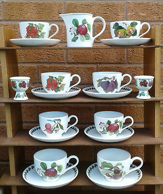 Portmeirion - Pomona - Selection Of Cups & Saucers & Other Tableware.