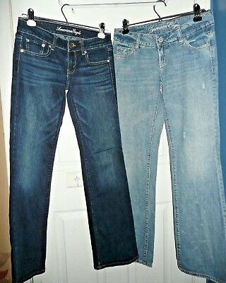 LOT of 2 women's American Eagle denim jeans * Size 2 *