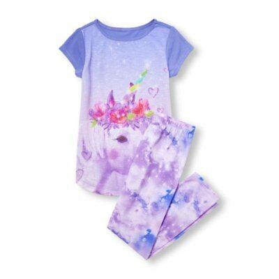 The Children's Place Girls Unicorn Pajamas Sleep Set 2 Piece Size XXL 16 NWT