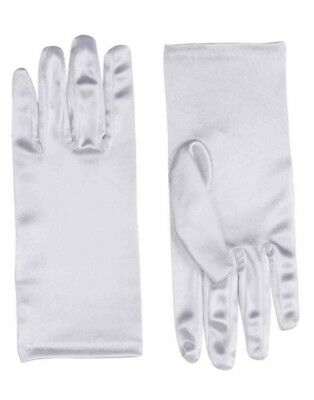 Adult Formal Costume Accessory White 9 Inch Costume Satin Dress Gloves