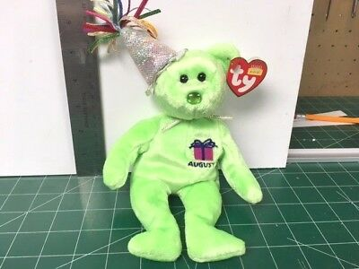 Ty Beanie babies 2002 AUGUST MINT W/ MINT TAGS RETIRED MY COLLECTION