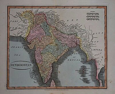 India. Hindoostan By William Darton 1820