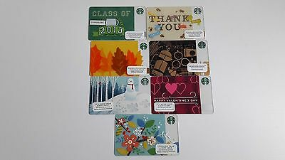Starbucks Gift Card lot 2013 2014 Class of Leaves of Fall Braille Valentines